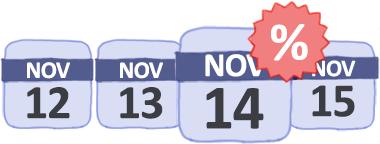 Calendario de próximas ofertas y vuelos baratos
